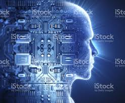 hi tech man with hitech circuit theme stock photo more pictures of adult