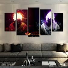 wholesale 5 panels canvas printings naruto vs sasuke home decor