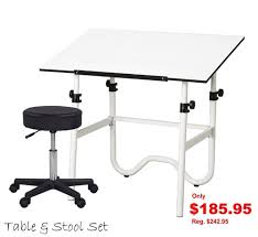 alvin onyx drafting table drafting table craft station set with table pneumatic stool with 30