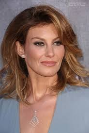 over forty hairstyles with ombre color faith hill voluminous medium length hairstyle with an ombre