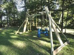 Backyard Swing Plans by How I Built My Own Backyard Swing Set U2013 Part 1