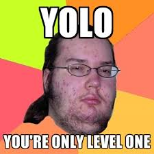 Yolo Meme - yolo you re only level one create meme