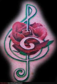 100 music rose tattoo nice rose flower tattoo design idea