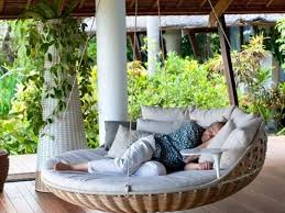 22 creative outdoor swing bed designs for relaxation outdoor