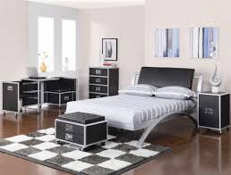 Oak Effect Bedroom Furniture Sets Black U0026 Silver Two Tone Finish Modern Kid U0027s Bedroom W Options
