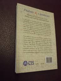 great prayer of thanksgiving psalms and canticles mediations and catechesis on the psalms and