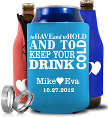 personalized wedding koozies custom wedding koozies can and bottle koozies