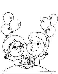 birthday pinata coloring pages hellokids