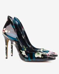 blue patterned shoes pointed suede court shoes dark blue shoes ted baker ted