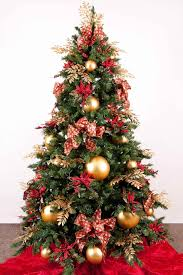 tree decorated christmas trees red and gold decorations u happy