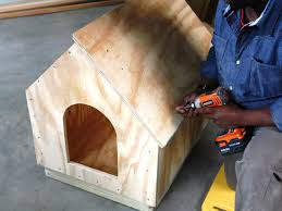 Make A House Plan by How To Build A Simple Gabled Roof Doghouse How Tos Diy