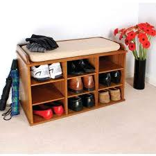 shoe storage bench with sliding doors elegant wooden shoe storage