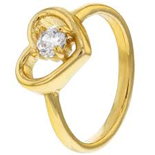 baby rings images 18k gold plated clear crystal heart love baby rings for girls in jpg