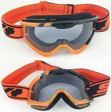 motocross goggles ebay spy optics targa 3 motocross mx goggles black orange sunday with