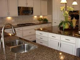 granite kitchen backsplash kitchen amusing white kitchen cabinets with brown granite
