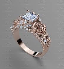 Princess Cut Wedding Ring by Sapphire Studios U0027rosa Del Amor U0027 1 20ct Princess Cut Rose Gold