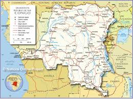 Africa Map With Capitals by Political Map Of Democratic Republic Of The Congo Nations Online