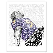 2012 baltimore ravens ray lewis word art print art of words