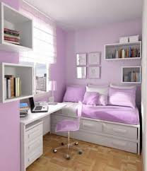 girls bedroom simple and neat small pink and purple bedroom