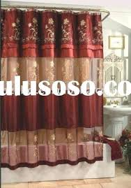 double swag shower curtain beautifully smocked silk curtains with
