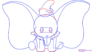 how to draw dumbo step by step disney characters cartoons draw