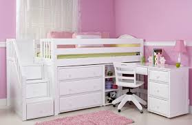 Loft Beds For Girls Girls Loft Bed With Desk Design Ideas And Benefits Homesfeed
