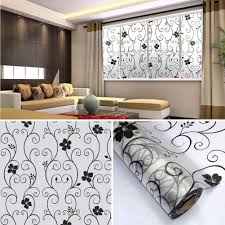 diy wall art decal decoration fashion romantic flower glass window