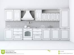 rough draft classic kitchen cabinet royalty free stock image