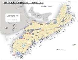 Nova Scotia Canada Map by Acadian Genealogy Homepage Historic Acadia Nova Scotia Pre 1755