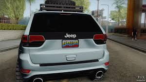 jeep grand cherokee srt white 2017 jeep grand cherokee srt lifted for gta san andreas