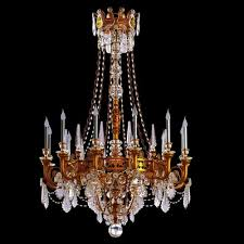 Classic Chandelier Big Antique Classic Chandelier In Brass Finish 3d Model Max Obj