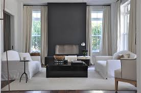Gray Accent Wall by Beckoning Gathering Space Gray Accent Wall Cradles The Fireplace