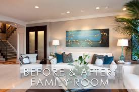 Glamorous Modern Family Room Before And After Robeson Design - Modern family room