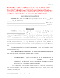 construction contract forms doc by richard cataman contract
