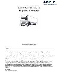 hgv inspection manual tire seat belt
