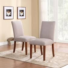 dorel set of 2 taupe linen parsons chairs