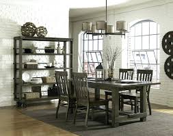 Rustic Oak Kitchen - dining table grey finish dining room table rustic oak wood round