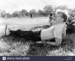 president jimmy carter relaxing during a softball game in plains
