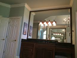 ideas for bathroom mirror frames wood bathroom mirror frames