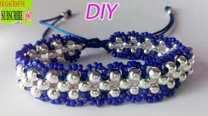 make beads bracelet images How to make bracelets with beads and string or thread tutorial diy jpg