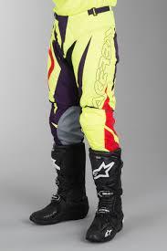 acerbis motocross gear acerbis mx spellblast motocross pants yellow purple now 25