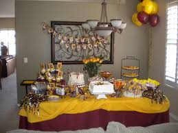 college graduation decorations arizona state themed graduation dessert buffet sweet