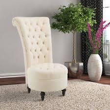 Velvet Accent Chair Homcom 45 Tufted High Back Velvet Accent Chair Living Room Soft