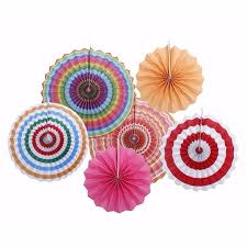 hanging paper fans party fan paper fans wedding tissue paper flowers hanging
