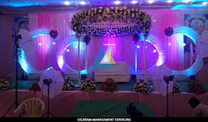 wedding reception decoration wedding decoration at samikannu tirumana mandapam pondicherry