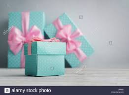 polka dot gift boxes blue polka dots gift boxes with pink ribbons on blue background