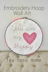 tea rose home embroidery hoop wall decor embroidery hoop wall decor