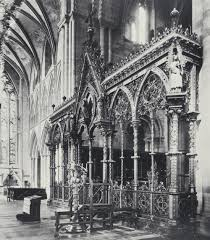 Screen Decoration At Back Of Altar The Hereford Screen By Sir George Gilbert Scott 1862 Victoria
