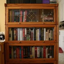 oak bookcases with glass doors ideas modern glass bookcase for interior book storage design
