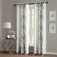 Blue And Brown Curtains Park Anaya Window Curtain Ebay